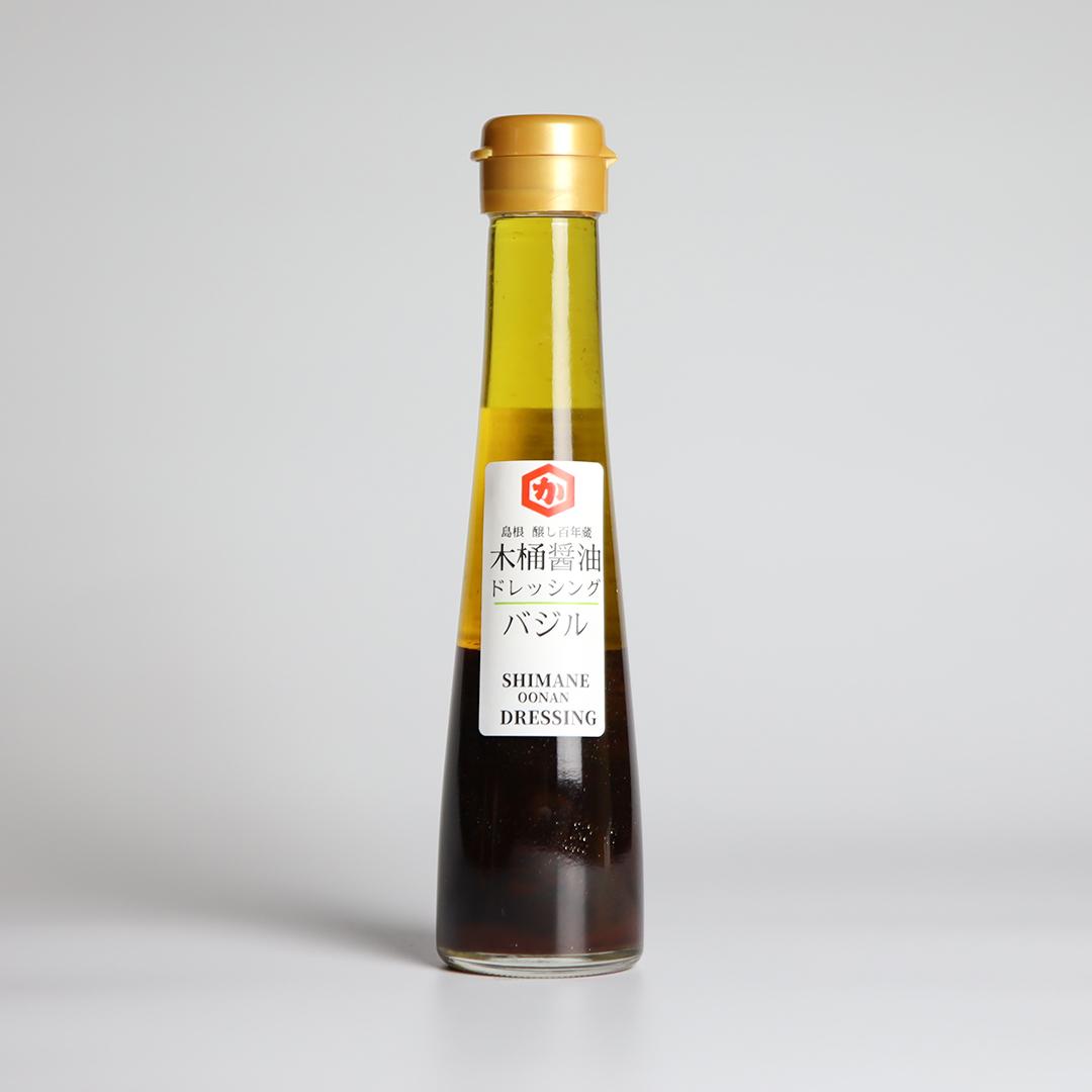 ~バジル~木桶醤油ドレッシング 120ml 瓶